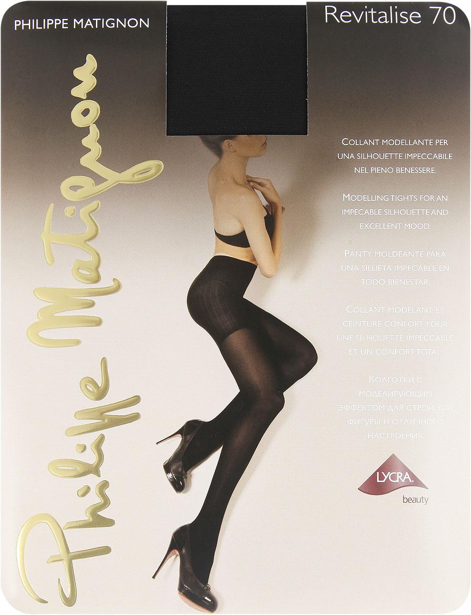 Колготки Philippe Matignon Revitalise 70, цвет: Nero (черный). M109951PM. Размер 2 (40/42) philippe matignon колготки miro 15 cappuccio