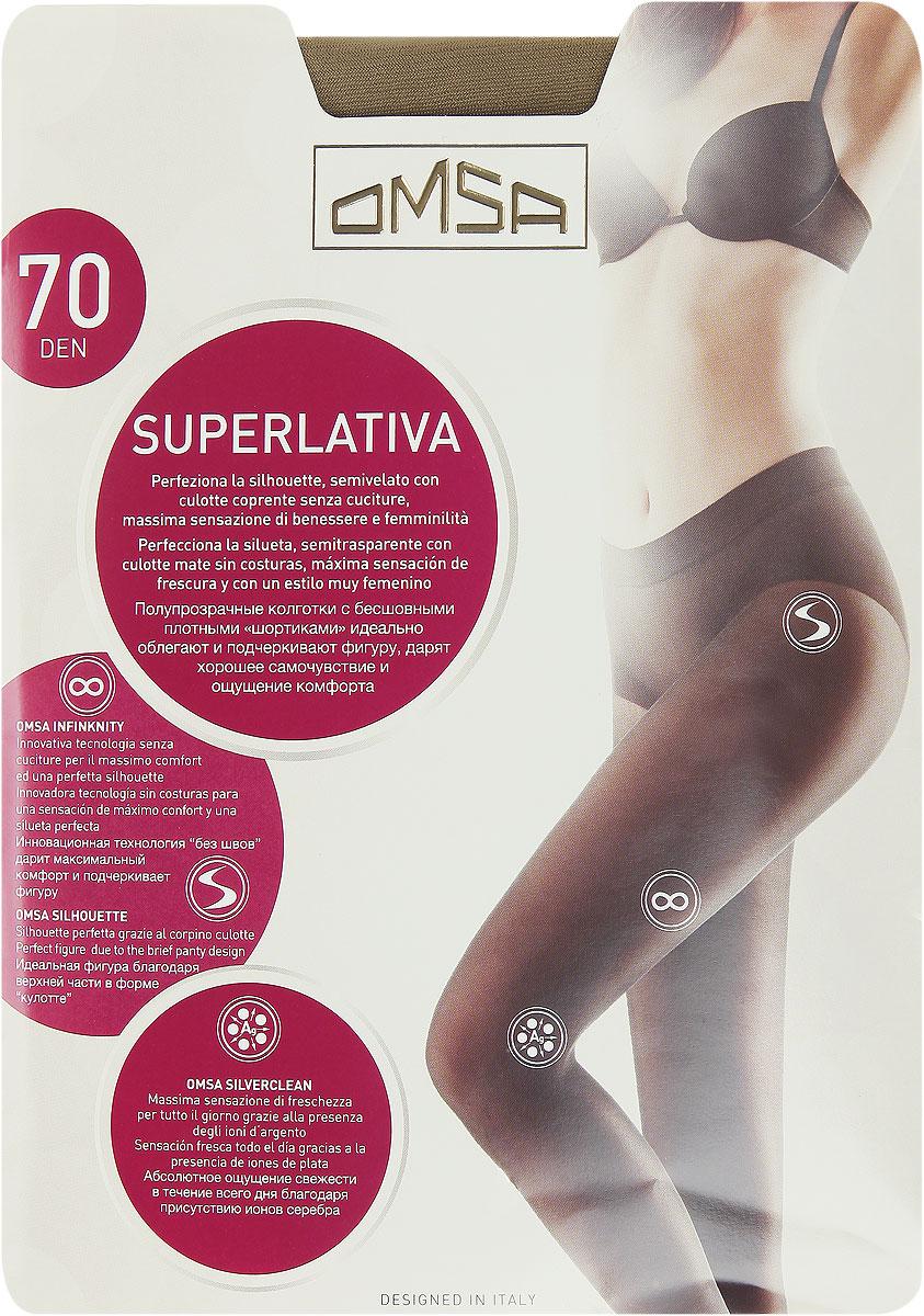 Колготки Omsa SuperLativa 70, цвет: Daino (загар). 4069OM. Размер 4 (46/48) колготки omsa superlativa размер 3 плотность 20 den nero