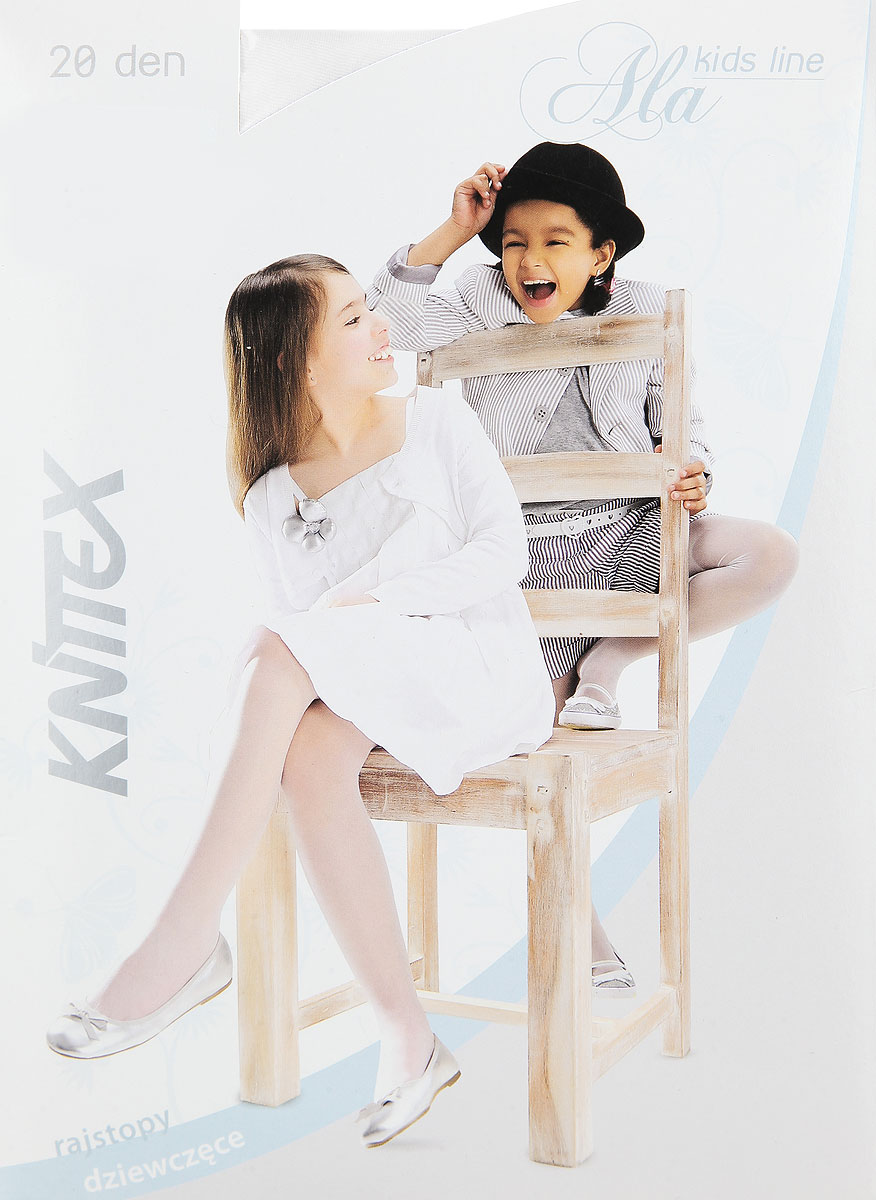 Колготки для девочки Knittex Ala, цвет: белый. Размер 140/146, 10-11 летAlaКолготки для девочки Knittex Ala, изготовленные из высококачественного материала, идеально подойдут вашей дочурке. Полиамид и эластан предотвращают растяжение и деформацию после стирки. Чрезвычайно мягкие колготки имеют широкую резинку и комфортные плоские швы. Однотонные колготки равномерно облегают ножки, не сдавливая и не доставляя дискомфорта. Эластичные швы и мягкая резинка на поясе не позволят колготам сползать, и при этом не будут стеснять движений.Классические колготки - это идеальное решение на каждый день для прогулки и школы. Такие колготки станут великолепным дополнением к гардеробу вашей красавицы.Плотность: 20 den.