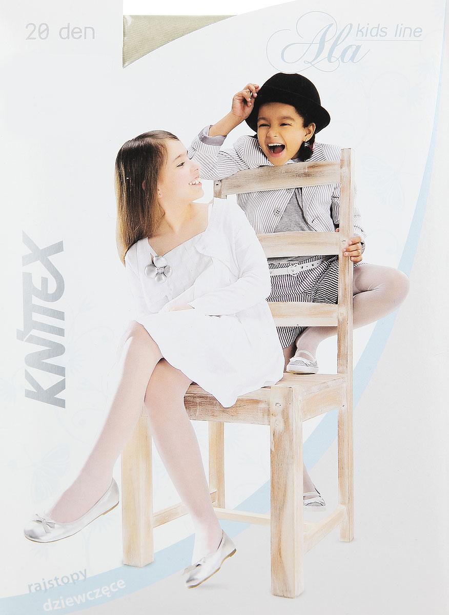 Колготки для девочки Knittex Ala, цвет: жемчужный. Размер 134/140, 9-10 летAlaКолготки для девочки Knittex Ala, изготовленные из высококачественного материала, идеально подойдут вашей дочурке. Полиамид и эластан предотвращают растяжение и деформацию после стирки. Чрезвычайно мягкие колготки имеют широкую резинку и комфортные плоские швы. Однотонные колготки равномерно облегают ножки, не сдавливая и не доставляя дискомфорта. Эластичные швы и мягкая резинка на поясе не позволят колготам сползать, и при этом не будут стеснять движений.Классические колготки - это идеальное решение на каждый день для прогулки и школы. Такие колготки станут великолепным дополнением к гардеробу вашей красавицы.Плотность: 20 den.