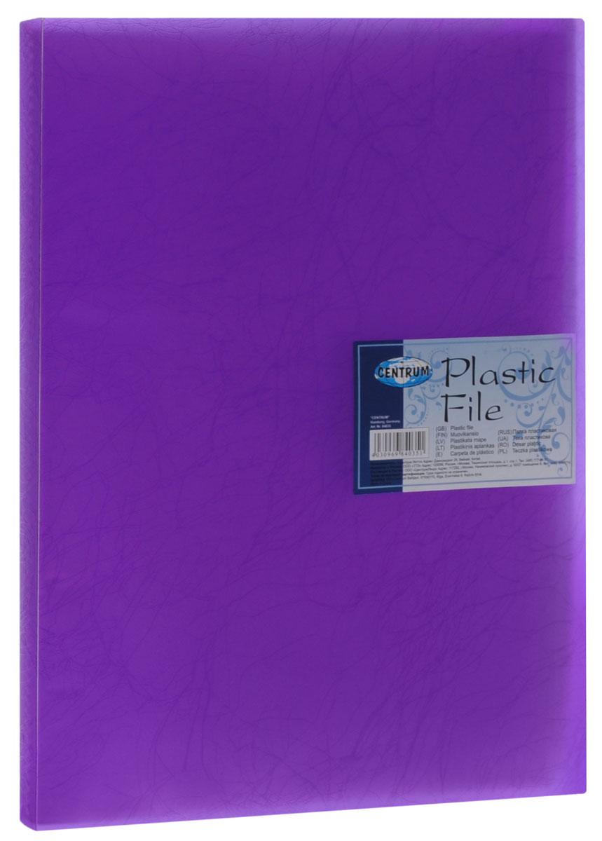 Centrum Папка с файлами Soft Touch 20 листов цвет фиолетовый84035_фиолетовыйПапка Centrum Soft Touch с 20 прозрачными вкладышами-файлами предназначена для хранения и презентации документов формата А4. Папка изготовлена из полупрозрачного фактурного пластика, благодаря чему документы, помещенные в нее, будут надежно защищены. Прочное соединение папки и вкладышей обеспечено за счет их лазерной сварки. Углы папки закруглены.Папка надежно сохранит ваши документы и сбережет их от повреждений, пыли и влаги.