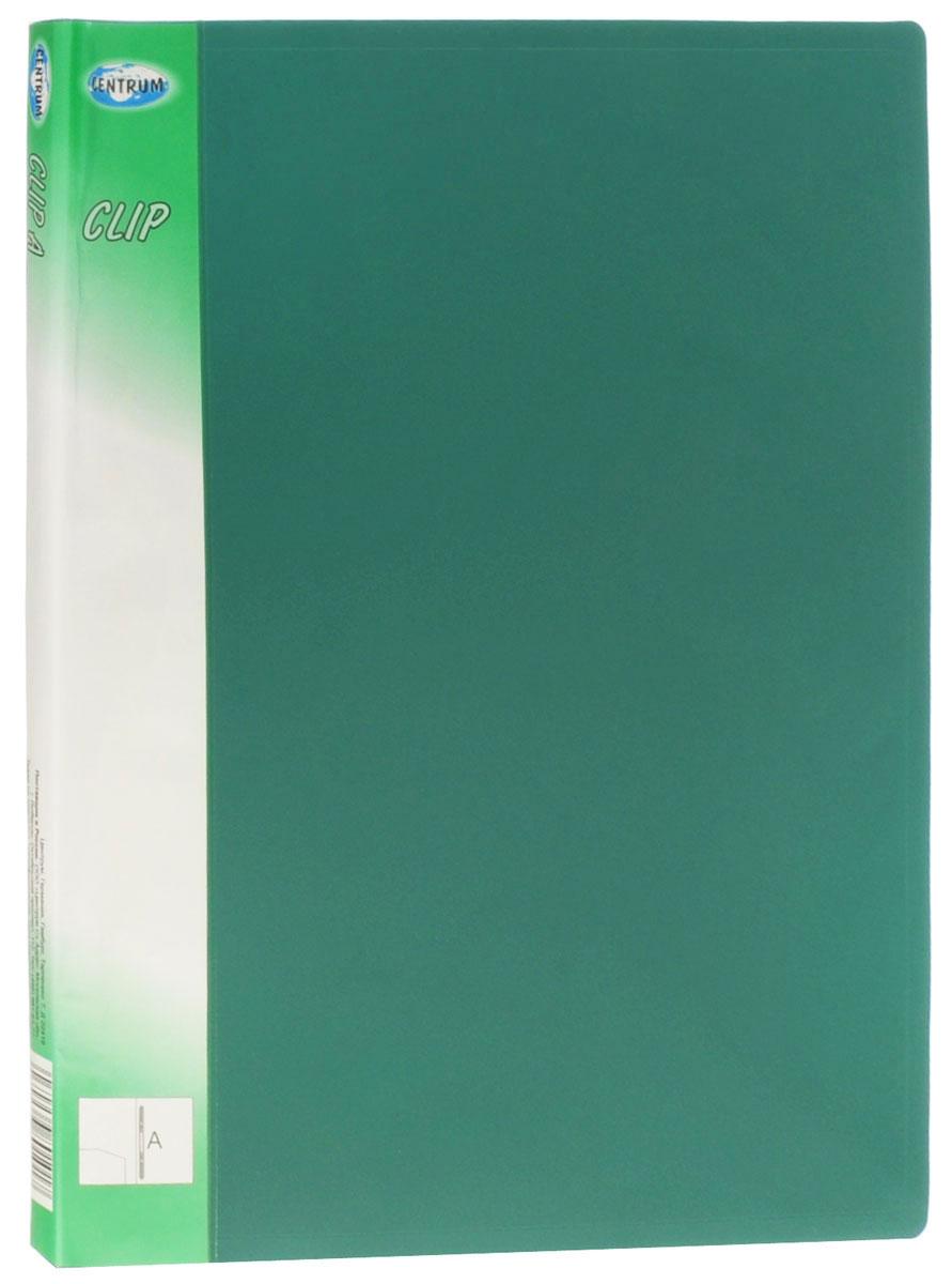Centrum Папка с пружинным механизмом Clip цвет зеленый80101_зеленыйПапка Centrum Clip с пружинным механизмом - это удобный и функциональныйофисный инструмент, предназначенный для хранения и транспортировки рабочихбумаг и документов формата А4.Изготовлена из непрозрачного, прочногопластика. Папка оснащена металлическим механизмом для фиксацииперфорированных бумаг. Внутри папки имеется прозрачный кармашек.Папка спружинным механизмом - это незаменимый атрибут для студента, школьника,офисного работника. Такая папка надежно сохранит ваши документы и сбережетих от повреждений, пыли и влаги.