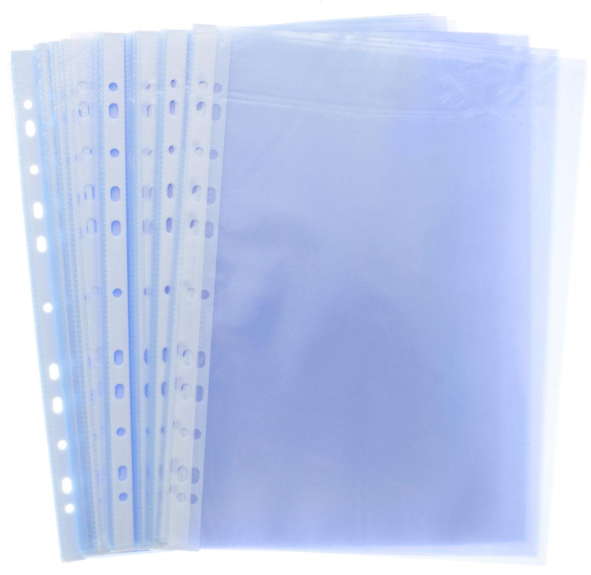 Erich Krause Файл-вкладыш Clear Standard 100 шт цвет голубой -  Файлы и разделители
