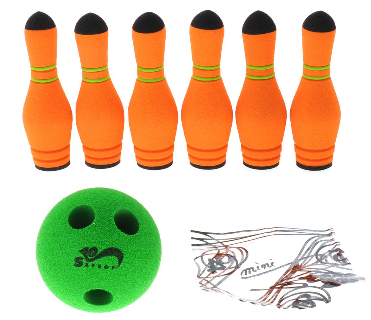 Safsof Игровой набор Мини-боулинг цвет оранжевый зеленый - Игры на открытом воздухе