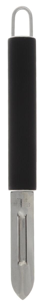 Нож для очистки кожуры Miolla, длина лезвия 3,5 см869150Нож для очистки Miolla с эргономичным лезвием отлично подходит для малоотходной чистки картофеля, моркови, яблок, спаржи и других продуктов. Заостренный кончик предназначен для вырезания глазков. Нож изготовлен из высококачественной нержавеющей стали. На рукоятке с антискользящей поверхностью имеется петелька для подвешивания. Изделие легко моется - можно мыть в посудомоечной машине. Общая длина ножа: 19 см.