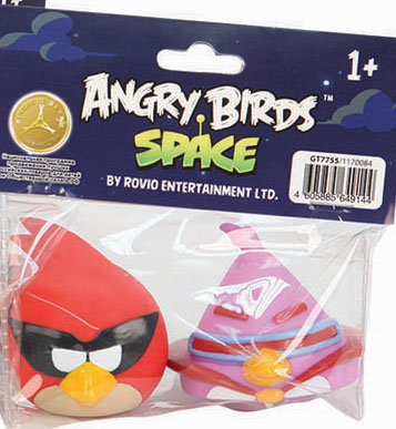 Angry Birds Игрушки для ванной Space цвет сиреневый красный жевательная конфета angry birds в стиках 25гр