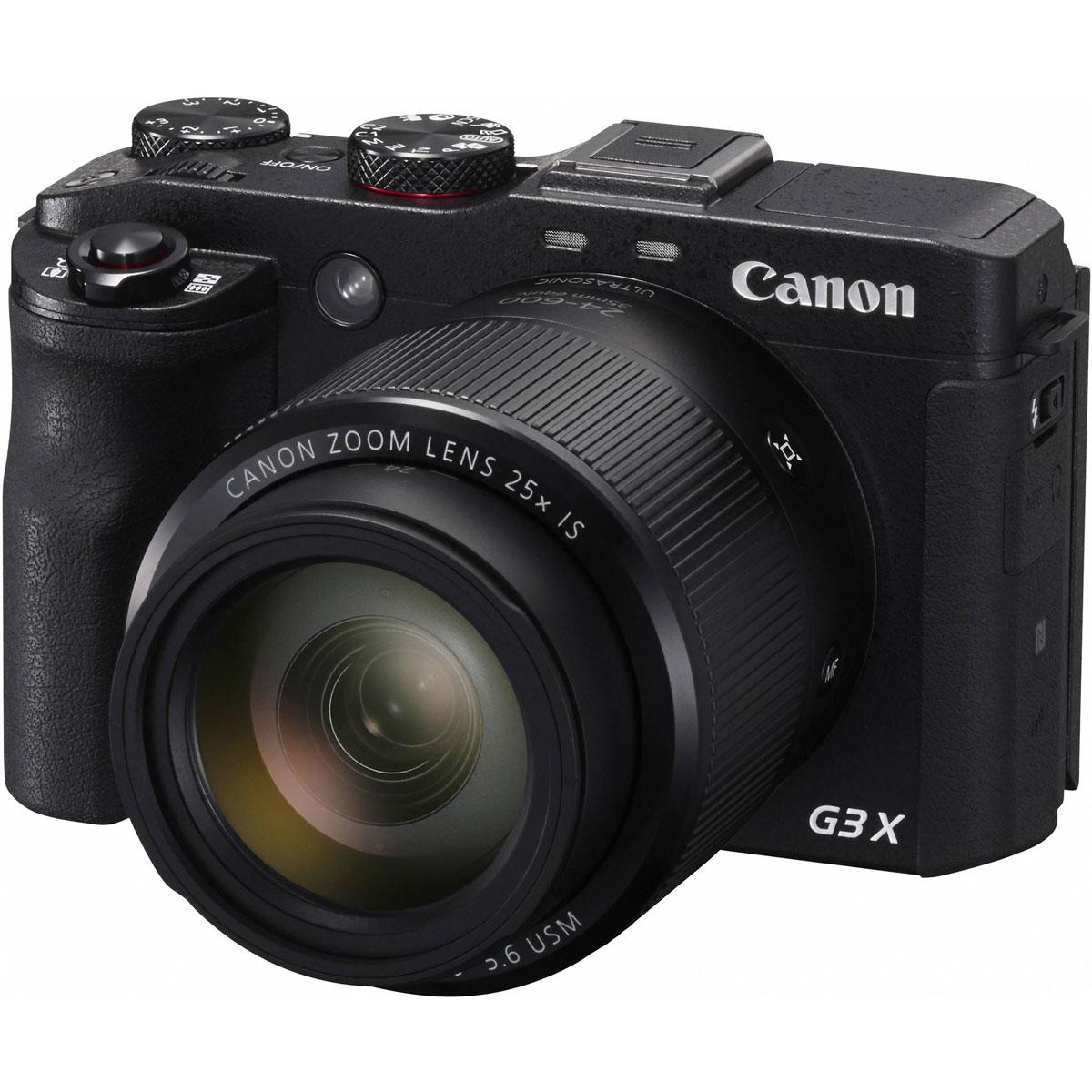 Canon PowerShot G3 X, Black цифровая фотокамера0106C002PowerShot G3 X — первая компактная модель Canon с суперзумом и дюймовым CMOS-датчиком с обратной подсветкой, которая обеспечивает выдающееся качество фотографий и видеороликов и дает творческие возможности, немыслимые для других компактных камер. Благодаря первоклассной оптике Canon, универсальному 25-кратному зуму и контролю на уровне зеркальных камер вы легко сможете приближать в кадре нужные объекты, даже снимая на ходу, например, во время путешествия. PowerShot G3 X прекрасно подходит для съемки природы и спортивных мероприятий и станет незаменимой камерой для профессионалов, которым необходимы безупречные кадры.Благодаря резкому сверхширокоугольному зум-объективу 24 мм и датчику изображения типа 1.0 можно снимать как близко расположенные, так и удаленные объекты с максимальной детализацией. Во время фото- и видеосъемки камера PowerShot G3 X позволяет добиться красивого размытия фона и сделать четкие сними даже в условиях слабого освещения.Благодаря 25х оптическому зуму и 9-лепестковой диафрагме камера PowerShot G3 X идеально подходит для съемки панорамных пейзажей, портретов с приятным размытием фона и высокой детализацией удаленных объектов.Теперь, благодаря системе интеллектуальной оптической стабилизации изображения, не нужно беспокоиться о том, что случайные сотрясения камеры могут испортить качество снимков. Камера настраивается автоматически и обеспечивает четкие и резкие фотографии и видеоролики, даже при съемке с полным увеличением или в условиях слабого освещения. Кроме того, ваши видеоролики будут невероятно плавными благодаря стабилизации видео по 5 осям.Создавайте потрясающее видео в формате Full HD, используя разную частоту кадров; экспериментируйте с профессиональными функциями, включая полное ручное управление, усиление контуров границы ручной фокусировки, потоковая передача через HDMI. Усовершенствованная динамическая стабилизация изображения по 5 осям компенсирует дрожание камеры, а универс