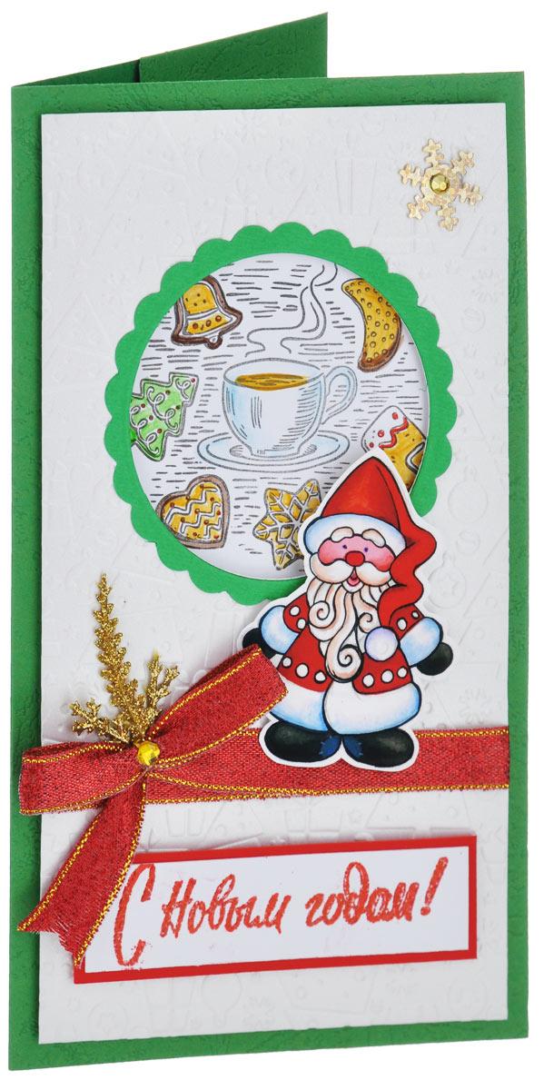 Открытка-конверт С Новым Годом!. Студия Тётя Роза. ОНГ-0011ОНГ-0011Открытка-конверт С Новым Годом! выполнена из высокохудожественного картона. Жизнерадостное и яркое поздравление, словно родом из детства: где на праздничном столе рядом с горячим чаем непременно ароматные рождественские прянички, а главный символ - неизменный Дедушка Мороз! Фигурка Деда Мороза нарисована гуашевыми красками специально для этой открытки! Изделие может стать как прекрасным дополнением к вашему подарку, так и самостоятельным подарком, так как открытка одновременно является и конвертом, в который вы можете вложить ваш денежный подарок или подарочный сертификат, или же просто написать ваши пожелания на вкладыше.Открытки ручной работы от студии Тетя Роза отличаются своим неповторимым и ярким стилем. Каждая уникальна и выполнена вручную мастерами студии. Открытка упакована в пакетик для сохранности. Обращаем ваше внимание на то, что открытка может незначительно отличаться от представленной на фото.