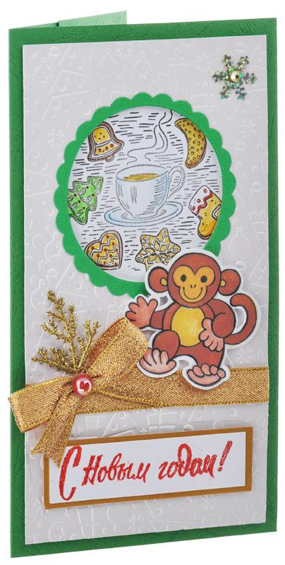 Открытка-конверт С Новым Годом!. Студия Тётя Роза. ОНГ-0012 конверт открытка студия тетя роза бабочки ораз 0029