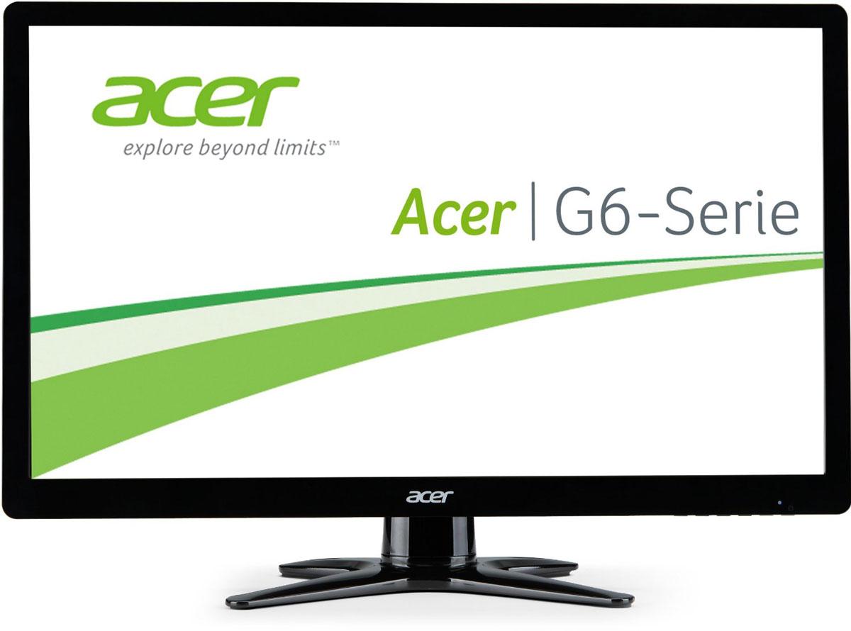 Acer G246HLBBID мониторUM.FG6EE.B02Мониторы Acer серии G6 невероятно стильные и имеют сверхтонкий профиль. Отличная производительность иразумное потребление энергии дополняют элегантный дизайн — и при этом позволяют уложиться в бюджет.Мониторы Acer серии G6 впечатляют сверхтонким профилем с X-образной подставкой, которая позволяет имидеально вписываться в пространство любого размера.