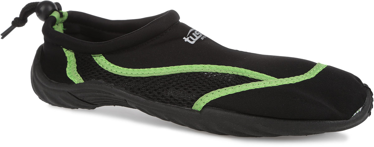 Обувь для кораллов Tusa Sport, цвет: черный, салатовый. UA0101 BK. Размер 37