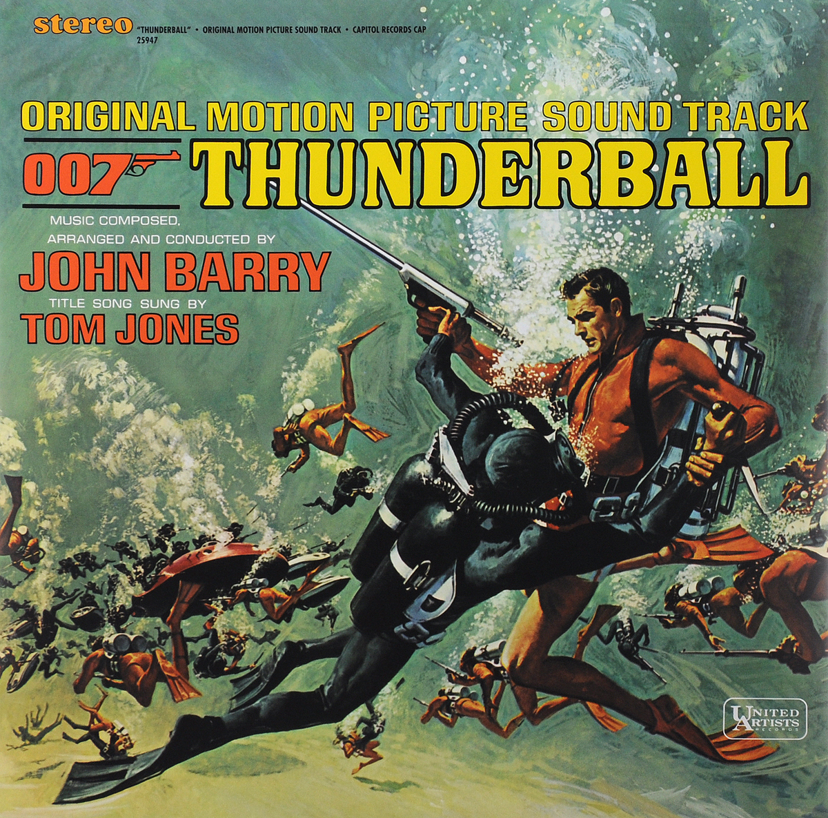 Thunderball. Original Motion Picture Sound Track (LP) black girl original sound track recording