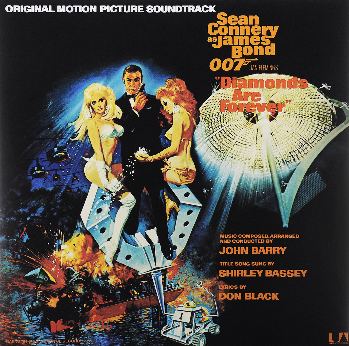 Diamonds Are Forever. Original Motion Picture Soundtrack (LP) ian fleming diamonds are forever