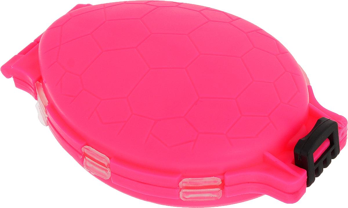 Органайзер для мелочей, двухсторонний, цвет: розовый, 11 см х 7,5 см х 2,5 см679530/8952430_розовыйУдобная пластиковая коробка Три кита Черепашка прекрасно подойдет для хранения и транспортировки различных мелочей. Коробка имеет 12 фиксированных секций, закрывающихся на крышки. Удобный и надежный замок-защелка обеспечивает надежное закрывание коробки. Такая коробка поможет держать вещи в порядке.Средний размер секции: 3 см х 3 см.
