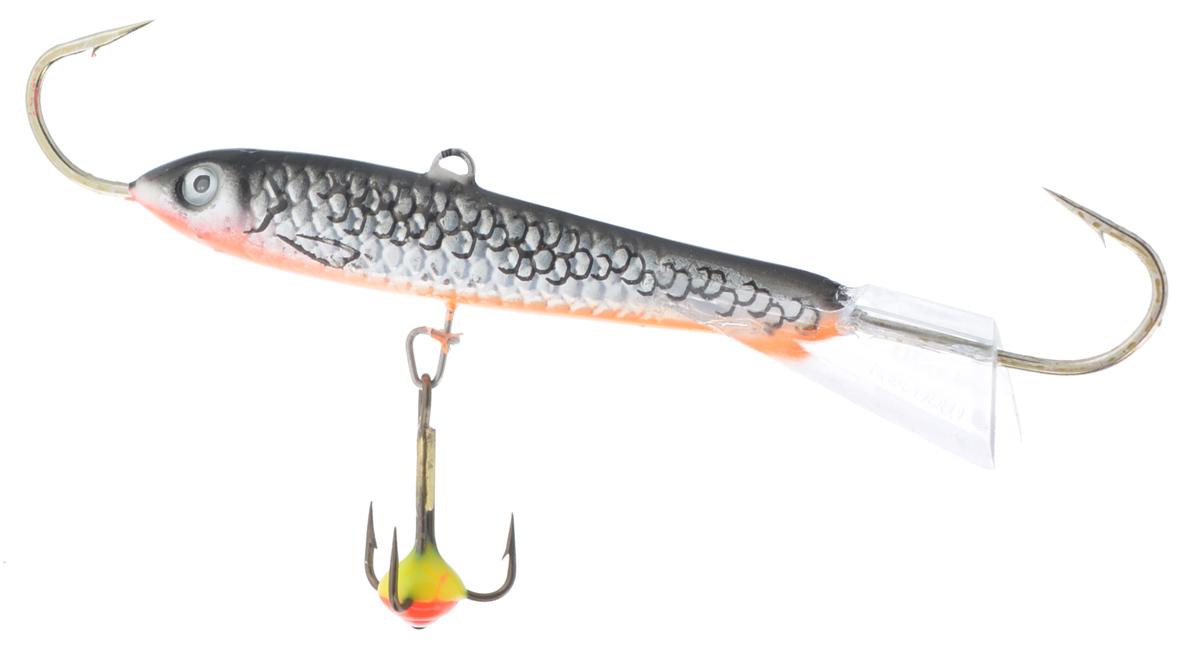 Балансир Lucky John Classic 7, с тройником, цвет: серебряный, оранжевый, 20 г катушка lucky john anira spin 7 1500 fd