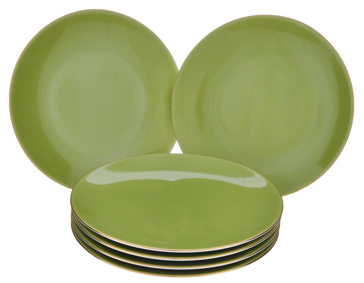 Набор десертных тарелок Yves De La Rosiere Monalisa, цвет: фисташковый, белый, диаметр 21 см, 6 шт7291063128В Набор Yves De La Rosiere Monalisa состоит из 6 десертных тарелок. Изделия выполнены из высококачественного фарфора. Красивые тарелки изысканно оформят стол и удивят ваших гостей своей оригинальностью и качеством исполнения. Диаметр тарелки: 21 см.Высота тарелки: 2,5 см.