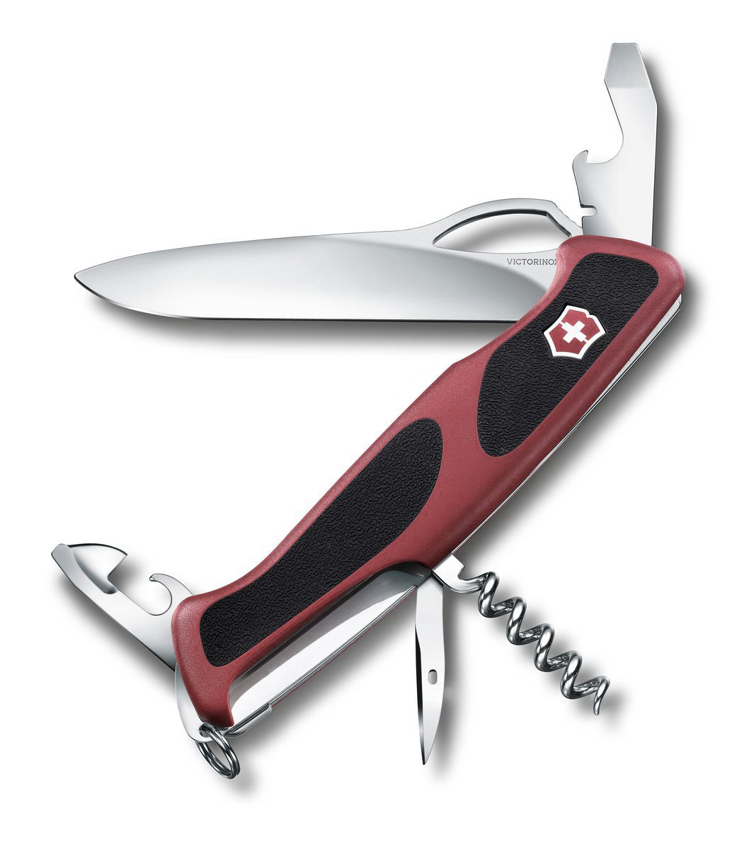 Нож перочинный Victorinox RangerGrip 61, цвет: красный, черный, 11 функций, 13 см0.9553.MCЛезвие перочинного складного ножа Victorinox RangerGrip 61 изготовлено из высококачественной нержавеющей стали. Ручка, выполненная из прочного пластика с резиновыми вставками, обеспечивает надежный и удобный хват.Хорошее качество, надежный долговечный материал и эргономичная рукоятка - что может быть удобнее на природе или на пикнике!Функции ножа:Фиксирующееся лезвие с петлей для открывания одной рукой.Консервный нож с малой отверткой.Открывалка для бутылок с фиксирующейся отверткой и инструментом для снятия изоляции.Шило, кернер.Штопор.Кольцо для ключей.Пинцет.Зубочистка.Длина ножа в сложенном виде: 13 см.Длина ножа в разложенном виде: 22,5 см.