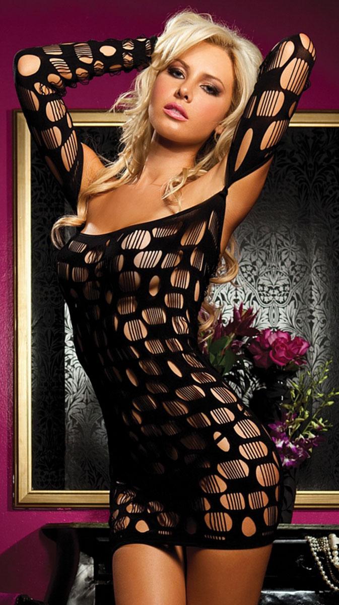 Платье гоу-гоу Sexy Drive Seven'til Midnight, цвет: черный. STM-9484PBLK. Размер XL (48/52) облегающее платье sexy drive