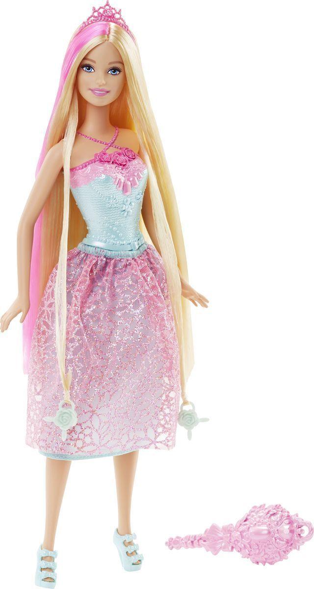 Barbie Кукла Принцесса с длинными волосами цвет одежды бирюзовый розовый куклы barbie куклы принцессы с длинными волосами