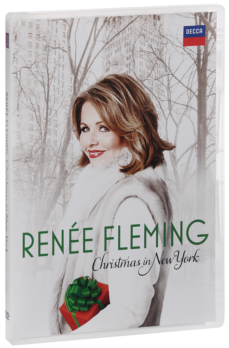 Renee Fleming: Christmas In New York christmas skiing snowman pattern door stickers