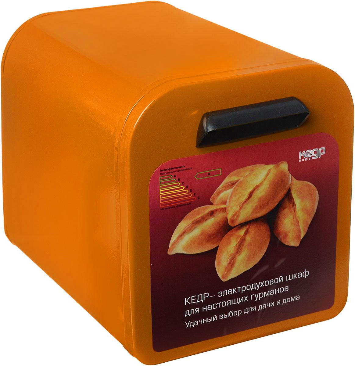 Кедр ЖШ-0,625/220, Orange жарочный шкафШЖ-0,625/220 OЖарочный шкаф Кедр предназначен для выпечки в домашних условиях различных изделий из теста, а также для запекания картофеля и приготовления блюд из мяса, птицы, рыбы. Такжев нем можно сушить ягоды, грибы и фрукты. Идеален для использования дома, на даче или в гараже.Этот жарочный шкаф отличается низким энергопотреблением - всего 0,625 кВт, что обеспечивает значительную экономию электроэнергии по сравнению с микроволновой печью и бесперебойную работу в условиях нестабильного электроснабжения в сельскойместности, имеет большой срок службы - до 20-ти лет. Но, пожалуй, главная его особенность и уникальность заключается в том, что он создает эффект русской печи. Так происходит, потому что тепло по всему периметру жарочного шкафа распределяется равномерно и как бы окутывает блюдо со всех сторон. В процессе приготовления еды не задействованы микроволны, о вреде которых идет так много споров. А, значит, жарочный шкаф Кедр составит хорошую альтернативу микроволновке.Основные преимущества: Высокие вкусовые качества приготовленных блюд Увеличенный срок службы (до 20 лет) Гарантийный срок - 24 месяца Низкое энергопотребление Отсутствие микроволн Легкость и простота эксплуатации Время разогрева до температуры 250°С - не более 20 минут Внутренние размеры: 315 x 205 x 205 мм