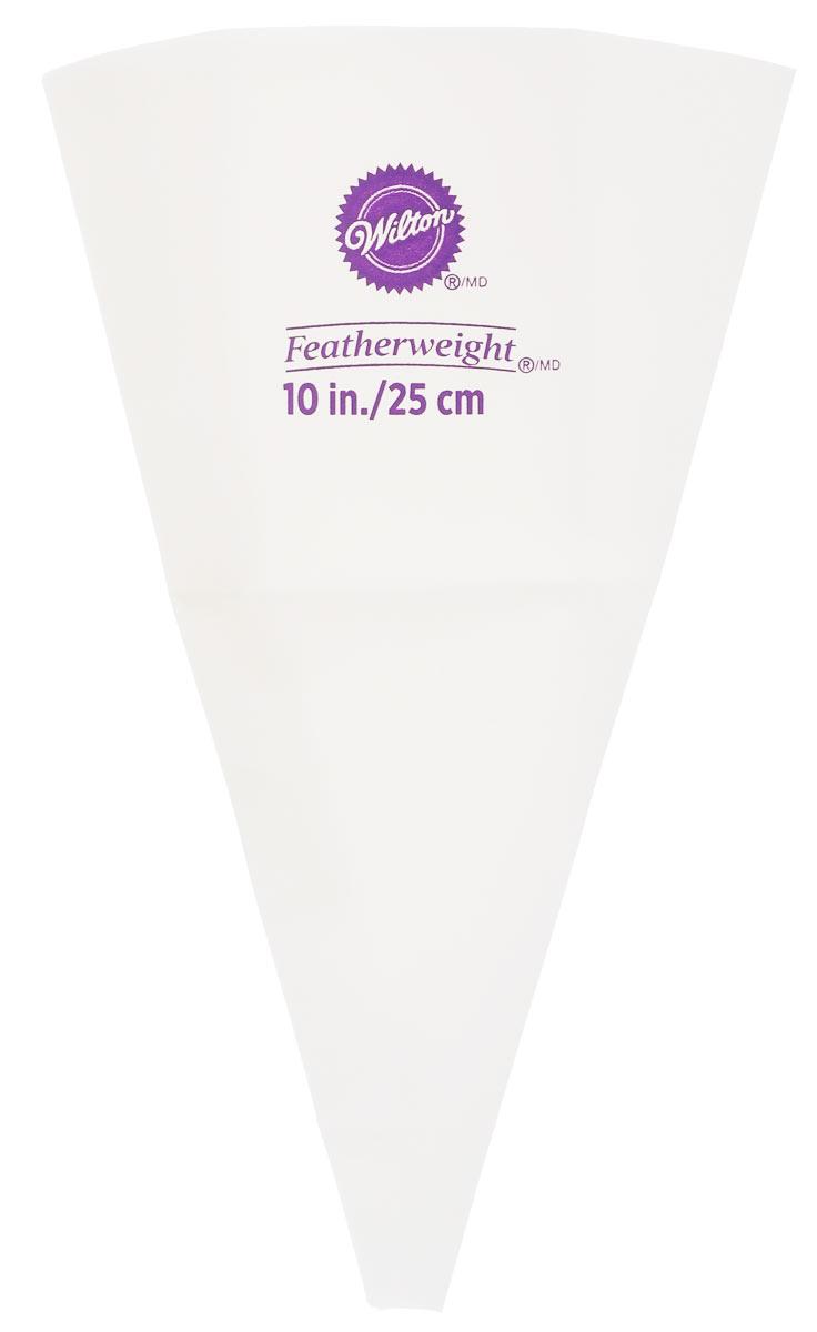 Кондитерский мешок Wilton, многоразовый, цвет: белый, фиолетовый, высота 25 смWLT-404-5109_белый, фиолетовыйВысококачественный кондитерский мешок Wilton, выполненный из полиэстера, предназначен для декорирования выпечки. Если вы любите побаловать своих домашних вкусной и ароматной выпечкой по вашему оригинальному рецепту, украшенной воздушным кремом, то кондитерский мягкий, гибкий и прочный мешок Wilton как раз то, что вам нужно! С его помощью вы создадите необыкновенные украшения на торте, наполните трубочки кремом и многое другое. Можно мыть в посудомоечной машине.Высота мешка: 25 см.Ширина мешка: 15 см.