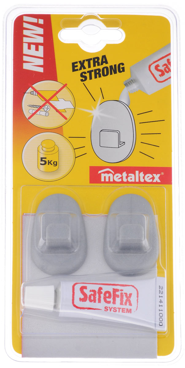 Набор универсальный Metaltex, 3 предмета40.49.92Универсальный набор Metaltex состоит из двух крючков, выполненных из прочного пластика и тюбика клея. Инновационная запатентованная система легкого монтажа не требует шурупов и сверления дырок. Система позволяет устанавливать крючки на различные поверхности: стекло, глазурованная плитка, металл, пластик благодаря супер прочному клею. Легко демонтируются не оставляя следов. На крючки можно повесить полки для ванной комнаты, полки на кухню.Стильный дизайн изделий впишется в любой интерьер.Крючки выдерживают вес: 5 кг.Размер крючка: 4,5 см х 3 см х 1,5 см.