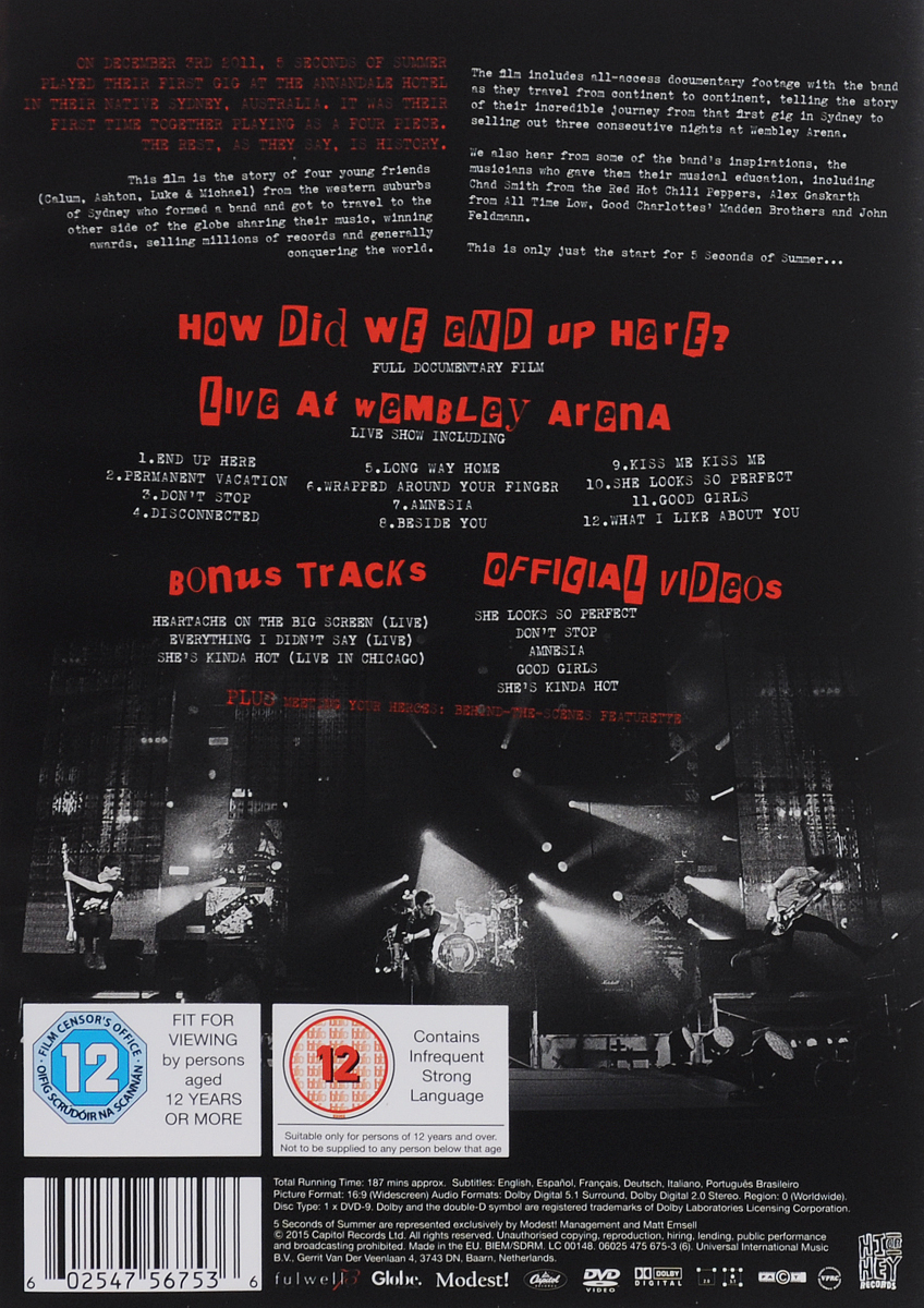 5 Seconds Of Summer:  How Did We End Up HereИ Live At Wembley Arena Capitol Records