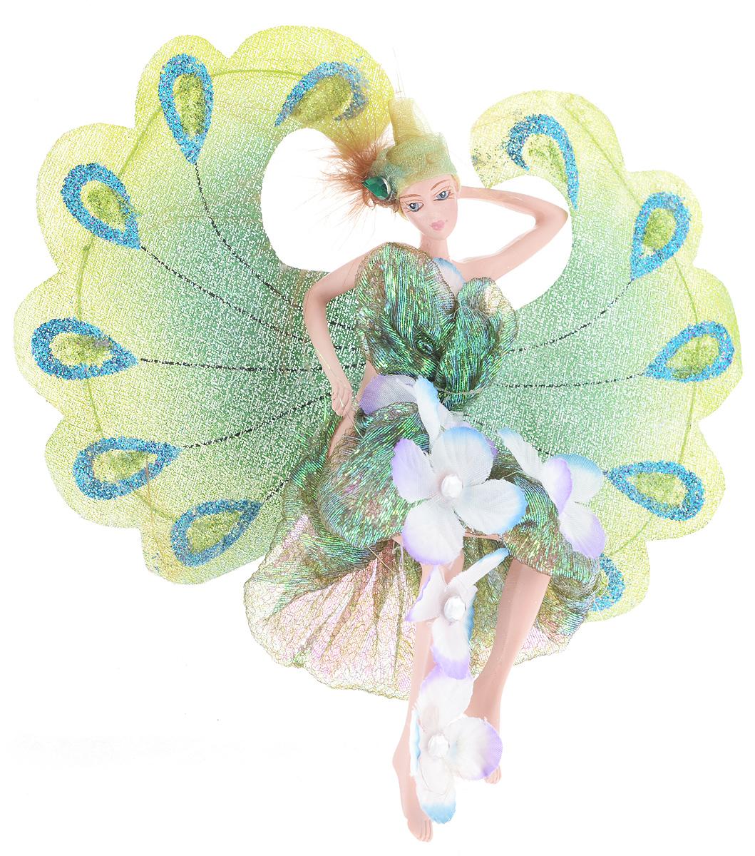 Новогоднее подвесное украшение Erich Krause Фея императорских цветов38532Новогоднее подвесное украшение Erich Krause Фея императорских цветов можно повесить на елку или украсить им интерьер. Изделие выполнено из полирезины в виде прекрасной феи с блестящими крылышками, как у павлина. Фея одета в красивое блестящее платьице с цветами, на голове - шапочка, декорированная пером и зеленым стразом. Елочная игрушка - символ Нового года. Она несет в себе волшебство и красоту праздника. Создайте в своем доме атмосферу веселья и радости, украшая всей семьей новогоднюю елку нарядными игрушками, которые будут из года в год накапливать теплоту воспоминаний.