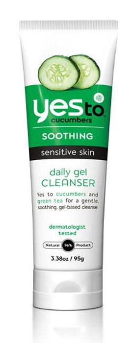 """Yes To Cucumbers Гель для лица """"Facial Cleansing Gel"""", очищающий, для нормальной и чувствительной кожи, 100 мл"""