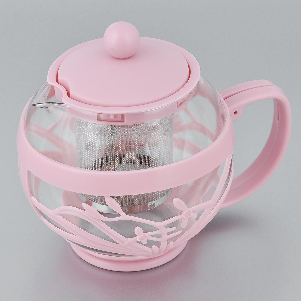 Чайник заварочный Menu Мелисса, с фильтром, цвет: прозрачный, розовый, 750 млMLS-75_розЧайник Menu Мелисса изготовлен из прочного стекла ипластика. Он прекрасно подойдет для заваривания чая итравяных напитков. Классический стиль и оптимальный объемделают его удобным и оригинальным аксессуаром. Изделиеимеет удлиненный металлический фильтр, которыйобеспечивает высокое качество фильтрации напитка ипозволяет заварить чай даже при небольшом уровне воды.Ручка чайника не нагревается и обеспечивает безопасностьиспользования.Нельзя мыть в посудомоечной машине.Диаметр чайника (по верхнему краю): 8 см. Высота чайника (без учета крышки): 11 см. Размер фильтра: 6 х 6 х 7,2 см.