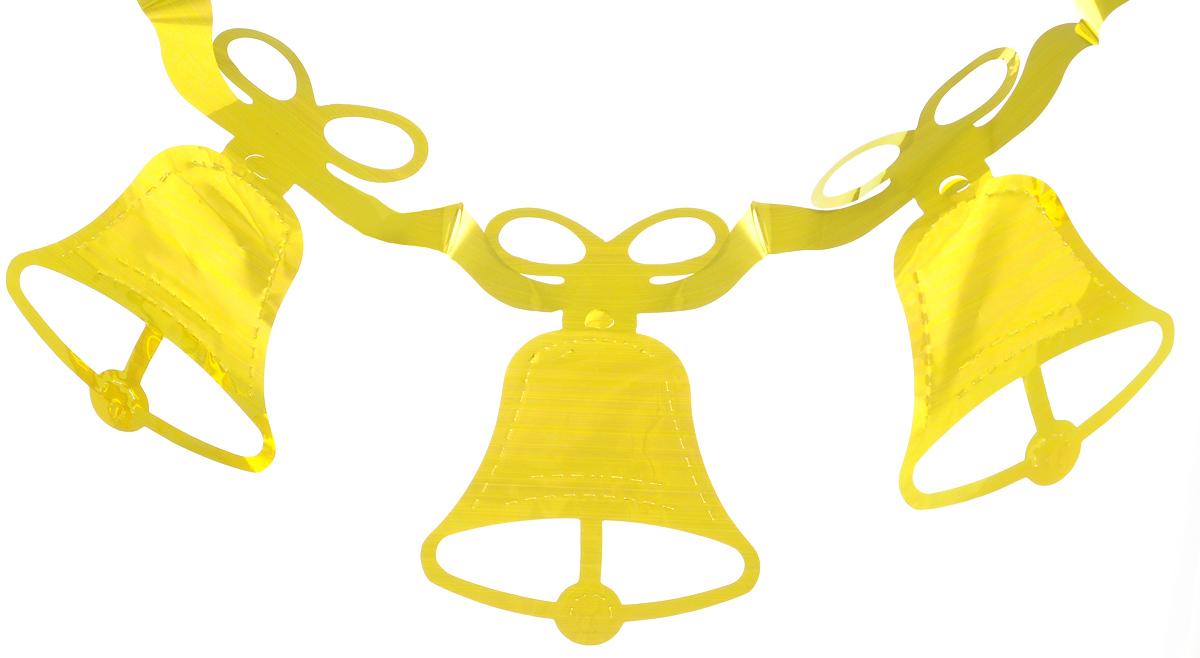 Новогодняя гирлянда Феникс-презент Magic Time, цвет: золотистый, длина 2,16 м38172Новогодняя гирлянда Феникс-презент Magic Time прекрасно подойдет для декора дома или офиса. Украшение выполнено из ПЭТ (полиэтилентерефталата) в виде колокольчиков, легко складывается и раскладывается. Новогодние украшения несут в себе волшебство и красоту праздника. Они помогут вам украсить дом к предстоящим праздникам и оживить интерьер по вашему вкусу. Создайте в доме атмосферу тепла, веселья и радости, украшая его всей семьей.