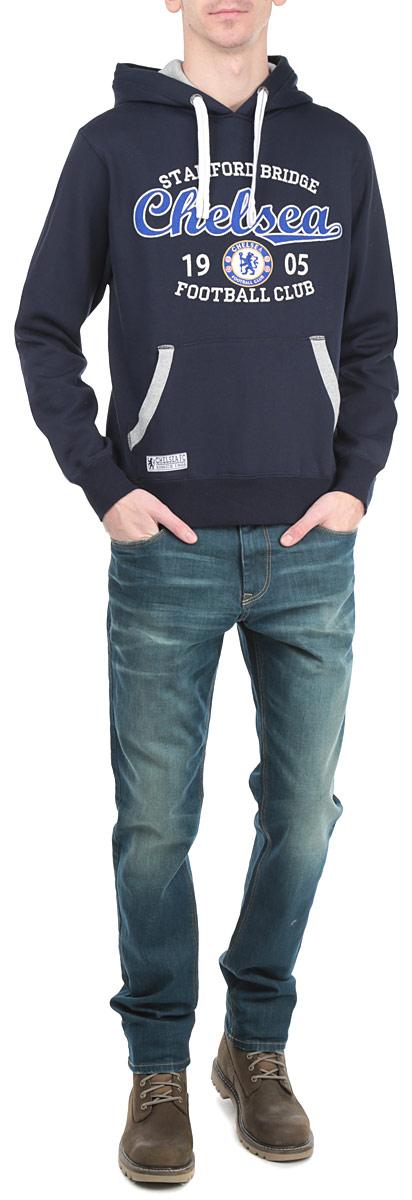 Толстовка мужская Chelsea, цвет: темно-синий. 8460. Размер XXL (54)