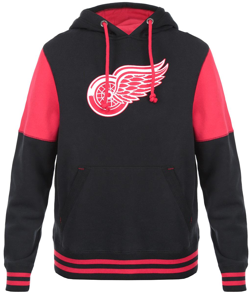Толстовка мужская NHL Detroit Red Wings, цвет:  черный, красный.  35320.  Размер XS (44) NHL