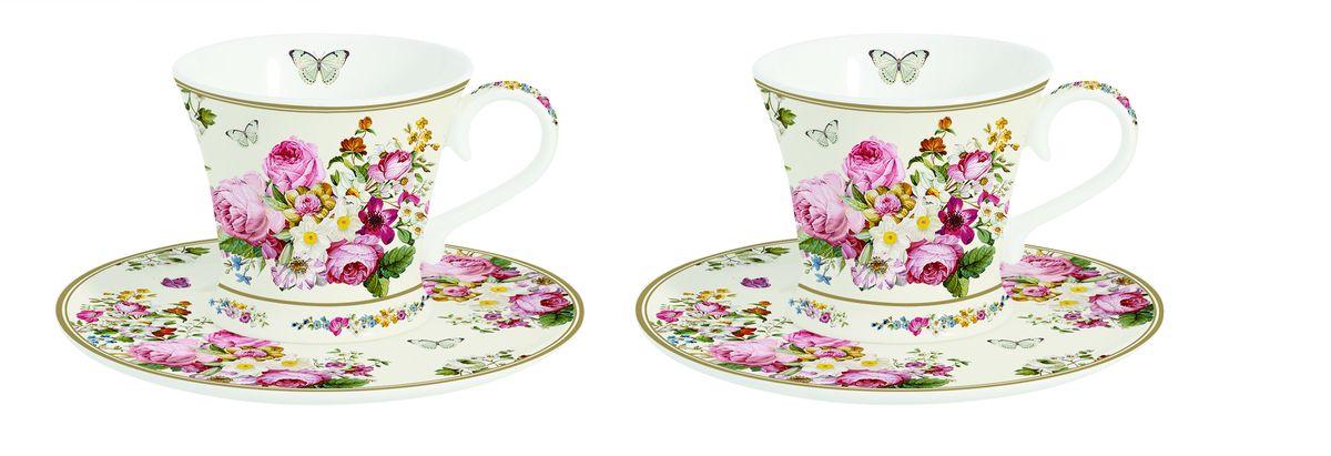 Набор кофейных пар Nuova R2S Роскошные цветы, 4 предмета1353BLOCНабор Nuova R2S Роскошные цветы состоит из двух кофейных пар (2 чашки и 2 блюдца), изготовленных из высококачественного фарфора и оформленных цветочным рисунком. Яркий дизайн, несомненно, придется вам по вкусу.Набор Nuova R2S Роскошные цветы украсит ваш кухонный стол, а также станет замечательным подарком к любому празднику.Можно мыть в посудомоечной машине и использовать в микроволновой печи.Объем чашек: 80 мл.Диаметр чашек (по верхнему краю): 7 см.Диаметр основания чашек: 5 см.Высота чашек: 6 см.Диаметр блюдец: 12 см.