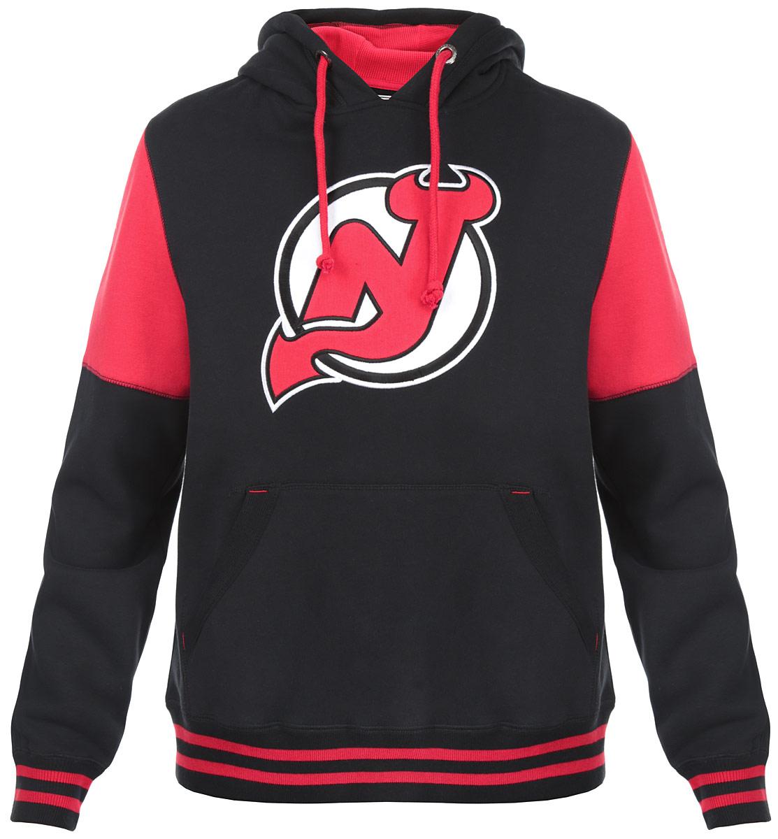 Толстовка мужская NHL New Jersey Devils, цвет:  черный, красный.  35330.  Размер XS (44) NHL