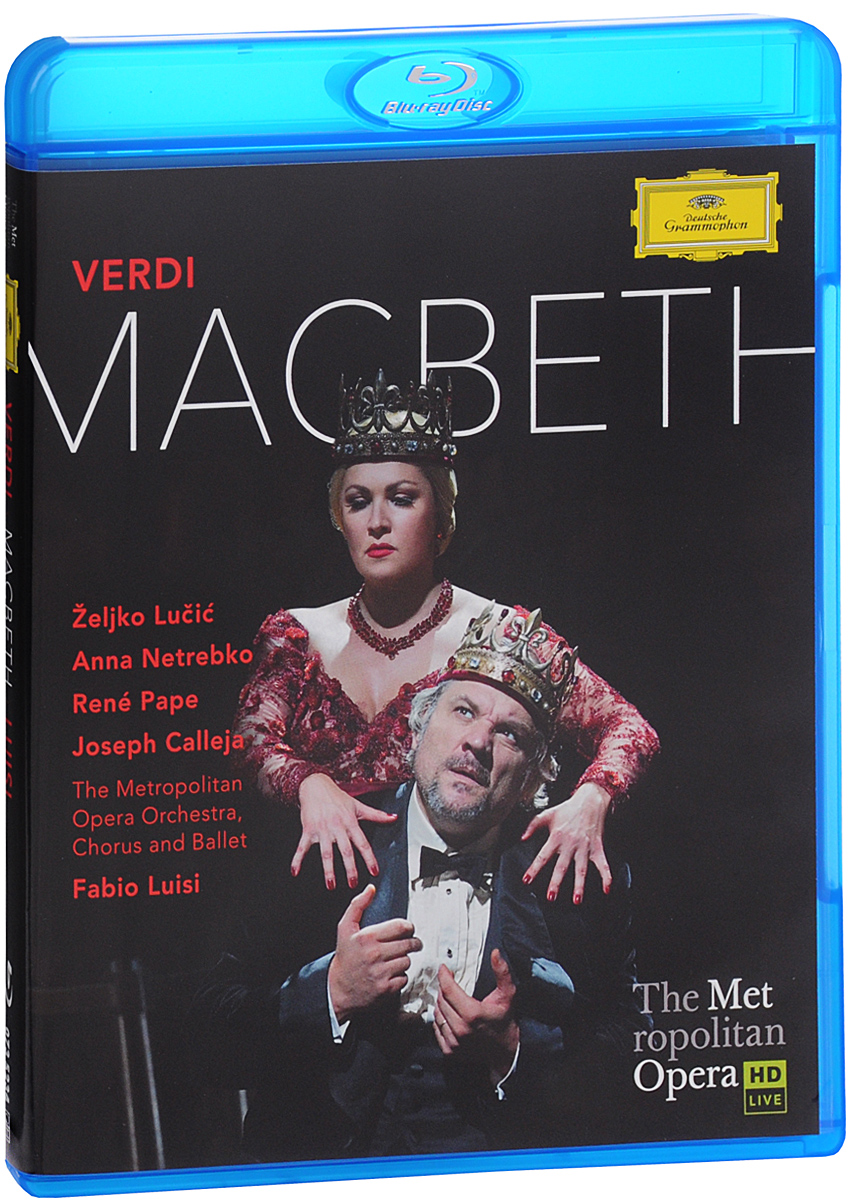 «One of the greatest triumphs in recent Met history» (Wall Street Journal), Anna netrebko's Lady Macbeth «is causing a sensation» (New York Times), a performance «so exciting it propels both artist and audience figuratively to the brink of madness» (New York Observer). With Zeljko Lucic's «highly charged» Macbeth, Rene Pape's «gravely dignified» Banquo, Jo9seph Calleja's «ardent» Macduff and conductor Fabio Luisi «leading a distinguished and authoritative performance» of former Royal Shakespeare Company artistic director Adrian Noble's grimly powerful production» (New York Times).