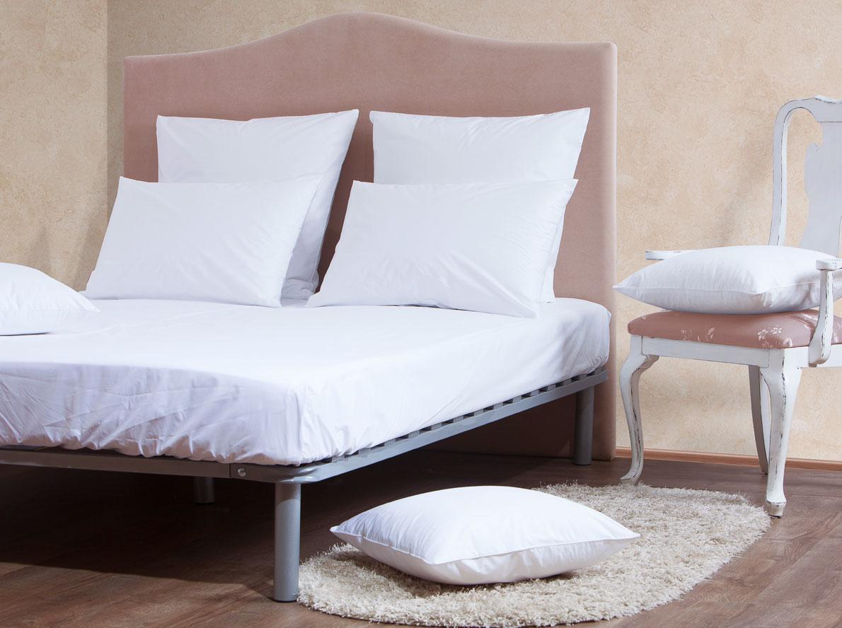 Комплект Mirarossi Gamma di Colori, 2-спальный: простыня, 2 наволочки 50х70, цвет: белый комплект mirarossi gamma di colori евро простыня 2 наволочки 50х70 цвет белый