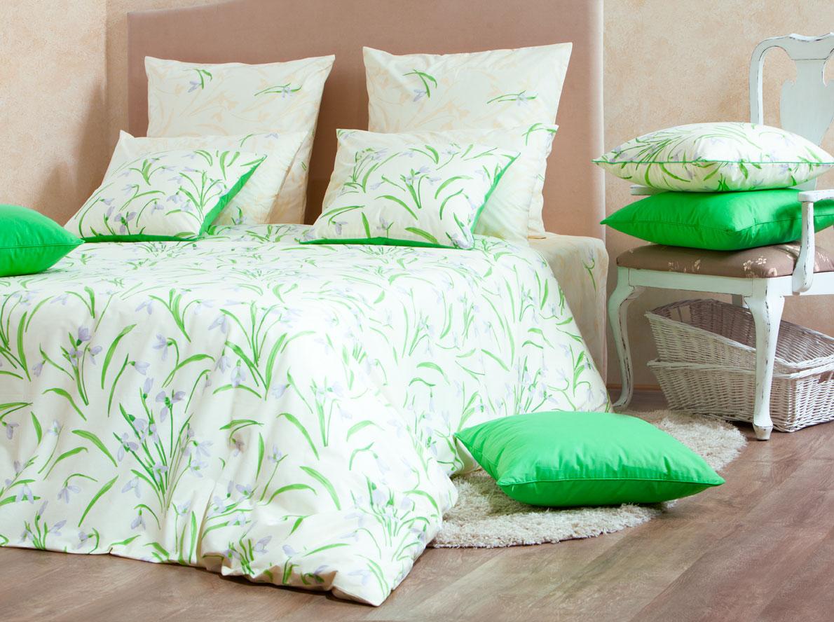 Комплект белья Mirarossi Sofia, 1,5-спальный, наволочки 70х70, цвет: кремовый, зеленый, сиреневый15п-1MRРоскошный комплект постельного белья Mirarossi Sofia изготовлен из перкаля (100% хлопка). Ткань приятная на ощупь, при этом она прочная, хорошо сохраняет форму и легко гладится. Комплект состоит из простыни, пододеяльника и двух наволочек. Перкаль не дает проходить перьям и пуху, что является хорошим свойством для пошива комплектов постельного белья, а из-за своей толщины и износостойкости из этого материала шьются парашюты и паруса.Теплое и нежное постельное белье Mirarossi Sofia создаст неповторимую атмосферу в вашей спальне.Плотность ткани: 135 г/м2.