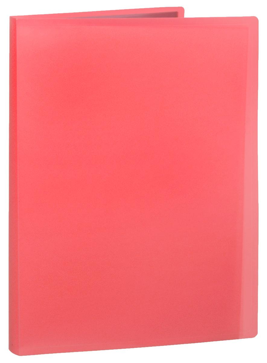 Erich Krause Папка с файлами 40 листов цвет коралловый папка 40 вкладышей горизонтальные линии желтая 221780