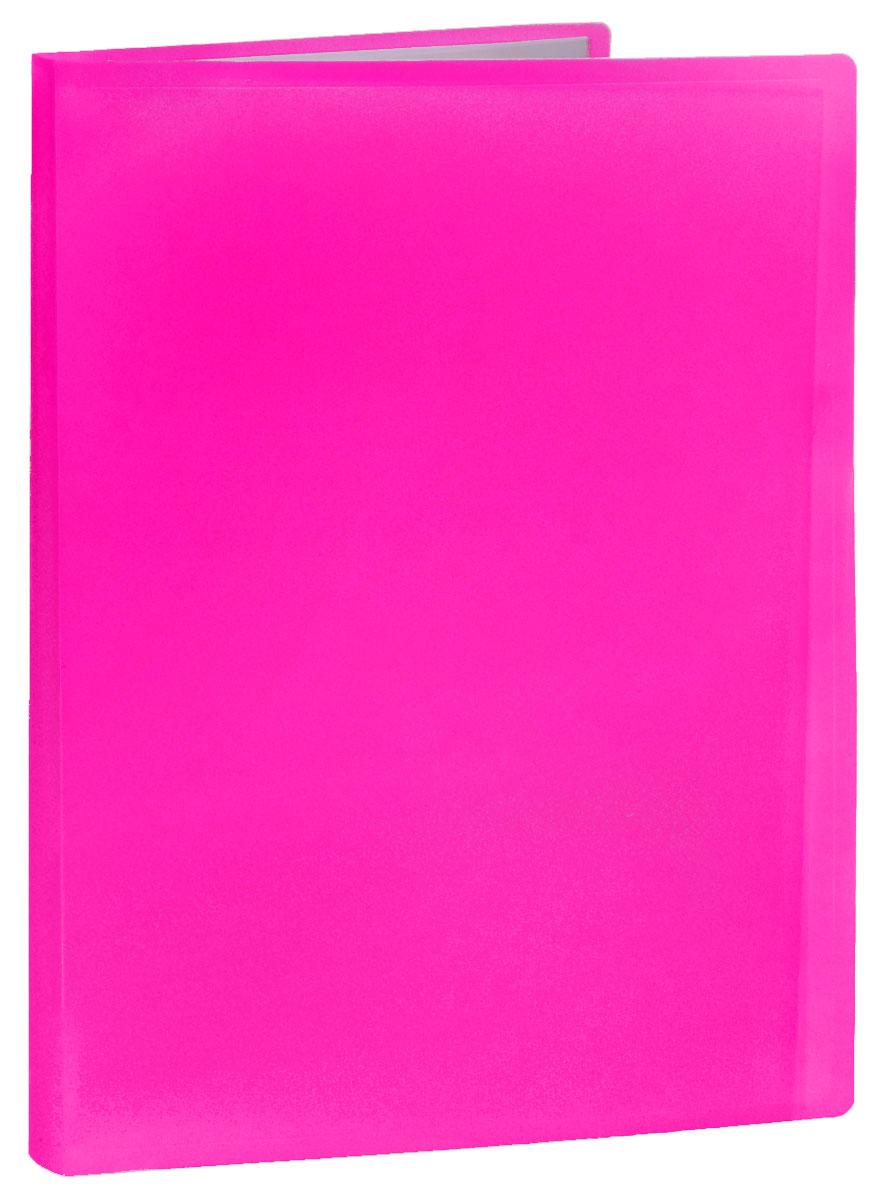 Erich Krause Папка с файлами 40 листов цвет розовый папка 40 вкладышей горизонтальные линии желтая 221780