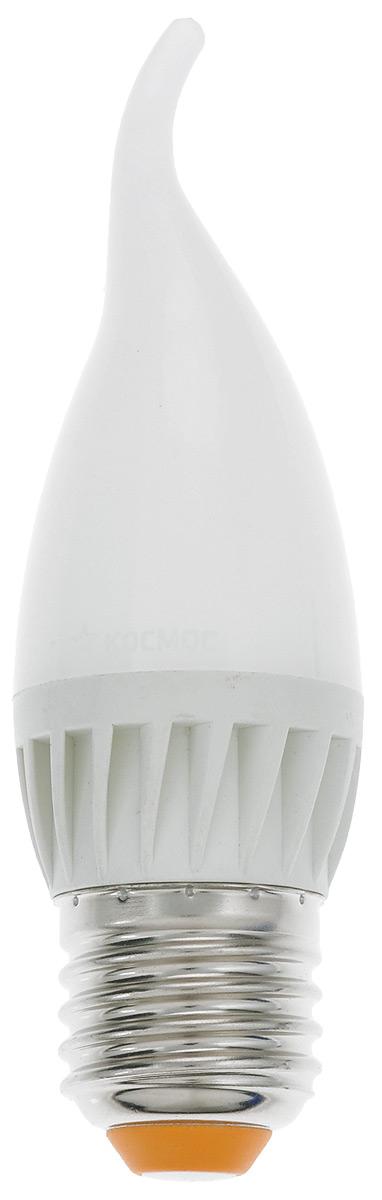 Лампа светодиодная Космос, CW, теплый свет, цоколь E27, 5WLksm_LED5wCWE2730Светодиодная лампа Космос отличается низким энергопотреблением. Срок службы лампы 30000 часов, это в 30 раз дольше, чем у лампы накаливания. Лампа устойчива к вибрациям и высоким перепадам температур. Обладает высокой механической прочностью и вибростойкостью. Характеризуется отсутствием ультрафиолетового и инфракрасного излучений. Эквивалентна лампе накаливания мощностью 60 Вт. Светит рассеянным светом как обычная лампа. Подходит для всех светильников. Номинальное напряжение: 220-240 В. Номинальная частота: 50/60 Гц. Рабочий ток: 0,043 А. Угол рассеивания: 270°. Срок службы: 30 000 ч. Стабильная работа при температуре: от 40°С до +50°С.Уважаемые клиенты! Обращаем ваше внимание на возможные изменения в дизайне упаковки. Качественные характеристики товара остаются неизменными. Поставка осуществляется в зависимости от наличия на складе.