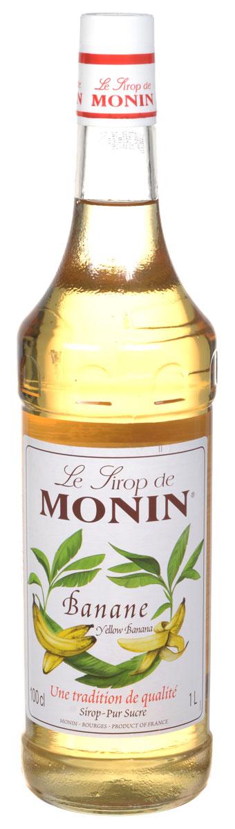 Monin Желтый Банан сироп, 1 л дынный сироп monin стекло 1 л