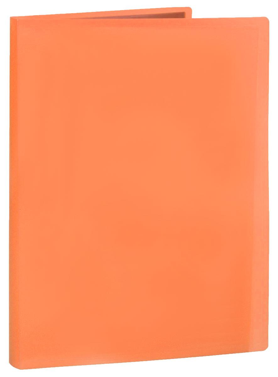 Erich Krause Папка с файлами 40 листов цвет оранжевый папка 40 вкладышей горизонтальные линии желтая 221780