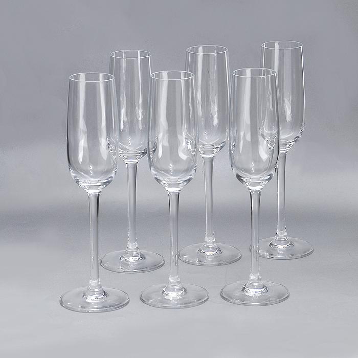 Набор фужеров для шампанского Luminarc Versailles, 160 мл, 6 шт набор фужеров luminarc французский ресторанчик 210 мл 6 шт