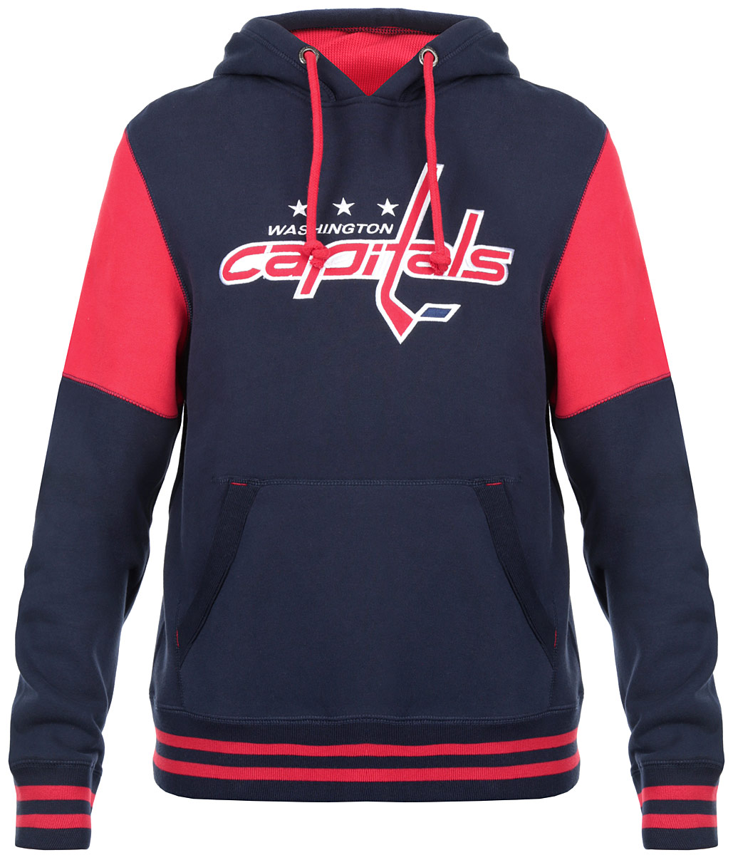 Толстовка мужская NHL Washington Capitsls, цвет:  темно-синий, красный.  35340.  Размер XS (44) NHL