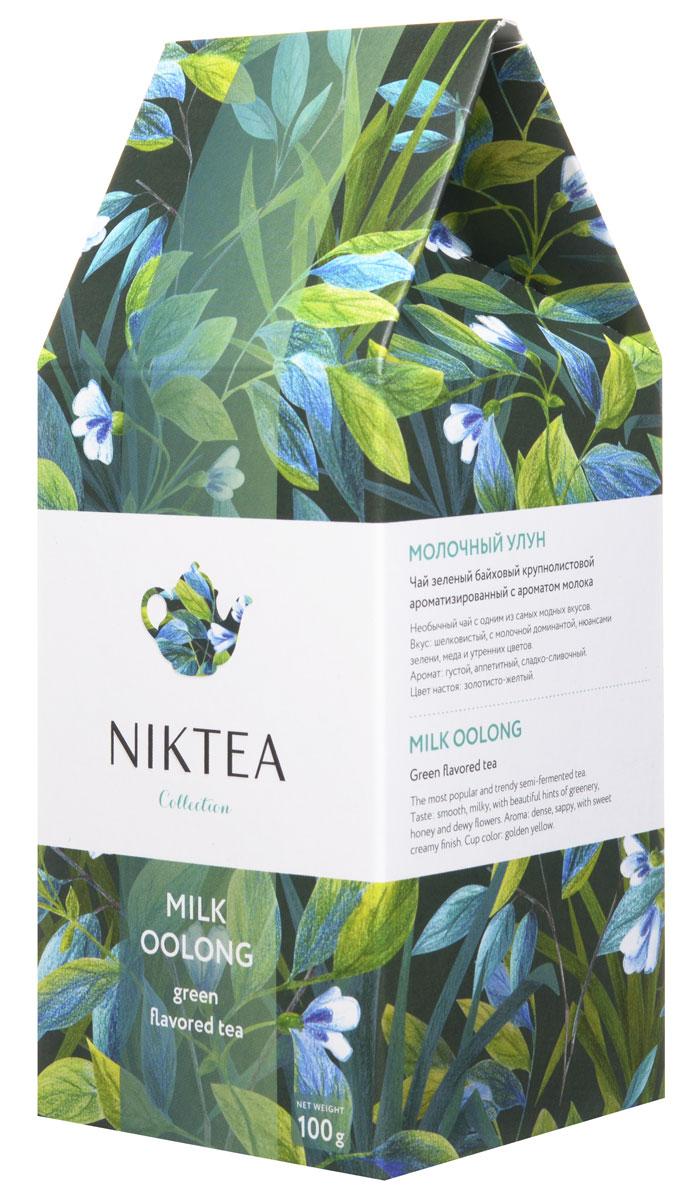 Niktea Milk Oolong зеленый листовой чай, 100 гTALTHA-L00003Niktea Milk Oolong - полуферментированный чай с одним из самых модных и необычных вкусов - шелковистым сладко-сливочным букетом с нюансами зелени, меда и утренних цветов.Коллекция NikTea разработана командой экспертов, имеющих богатый опыт в чайной индустрии. Во время ее создания выбирались самые надежные поставщики из Европы и стран происхождения чая, а в линейку включили не только топовые аутентичные позиции, но и новые интересные рецептуры в традициях современной чайной миксологии.NikTea - это действительно качественный чай. Для истинных ценителей мы предлагаем безупречное качество: отборное сырье, фасовку на высокотехнологичном производственном комплексе в России, постоянный педантичный контроль готового продукта, а также сертификацию сырья по международным стандартам.NikTea - это разнообразие. В линейках листового и пакетированного чаяпредставлены все основные группы вкусов - от классического черного и зеленого чая до ароматизированных, фруктовых и травяных композиций.NikTea - это стиль. Необычная упаковка с модным авторским дизайном создает яркий и запоминающийся стиль, а интересные коктейльные рецептуры дают возможность экспериментировать со вкусами.В листовой коллекции Niktea воплощена самобытность различных стран, яркие образы различных культур. Среди 6 купажей самобытных купажей каждый найдет свой любимый вкус для чаепития в любой ситуации - на работе, дома или в самых удаленных уголках планеты.Для такого чая мы создали и соответствующую упаковку: колоритный дизайн, удобный клапан с перфорацией для многократного использования, оригинальная по форме пачка с фольгированным герметичным пакетом, который сохраняет свежесть аромата и вкуса на долгое время.