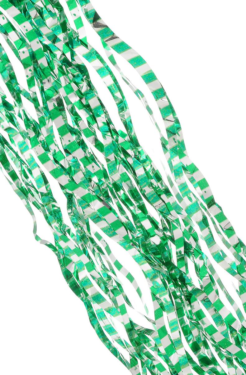 Дождик новогодний Sima-land, цвет: серебристый, зеленый, 14 х 100 см. 702537