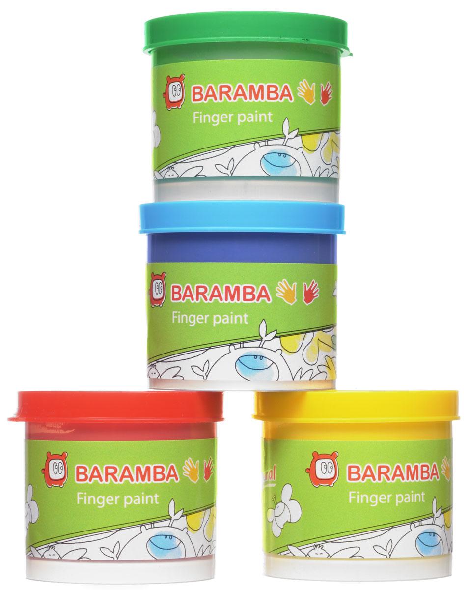 """Краски пальчиковые """"Baramba"""", 4 цвета. B00530"""