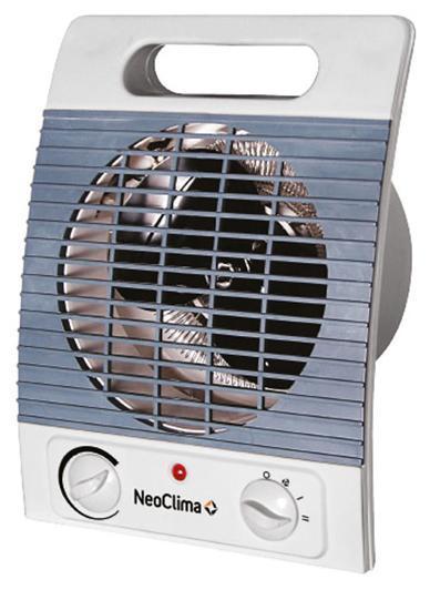 Neoclima FH-05 тепловентилятор25335Тепловентилятор Neoclima FH-05 предназначен для быстрого нагрева воздуха в помещениях площадью до 20 м2. Прибор отличается компактностью, мобильностью и безопасностью и оборудован простой и удобной панелью управления.